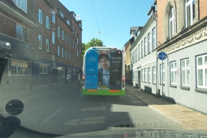 Reklame for Århus Universitet i Odense
