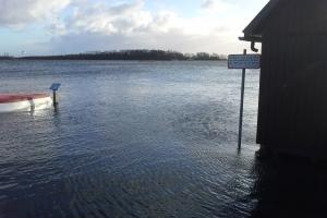Oversvømmelser ved Odense Fjord efter Bodil