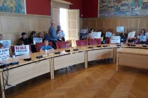 Børn demonstrerede i byrådssalen