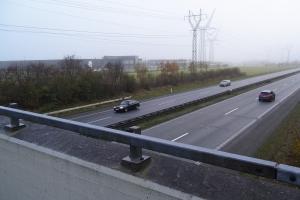 Gangbro over motorvej ved Tietgenbyen