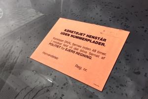 Bil uden nummerplade