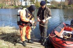 Marinearkæologer undersøger voldgrav ved Nyborg Slot