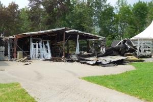 Påsat brand i Odene Roklub