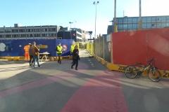 Fodgængere og cyklister må ud på en omvej, når de skal krydse den gamle Thomas B. Thriges Gade. Passagen bliver nu lukket.