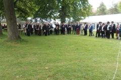 Godt 450 medlemmer af Odense Skyttelaug var tirsdag samlet til den rituelle skyttelaugsfest i Ansgar Anlæg.