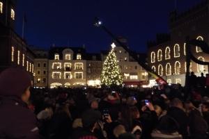 Juletræet tændes på Flakhaven