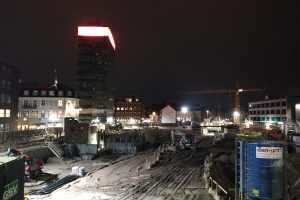 Byggeplads ved Thomas B. Thriges Gade