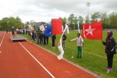 Stort Skole OL-atletikstævnet i Odense. Over 500 elever fra Odense og omegn deltager.