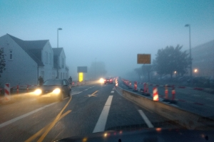 Tåge over Nyborgvej i Odense