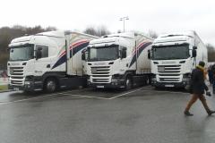 Selvkørende lastbiler over Fyn_