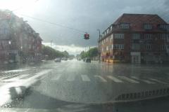Regnvejr i sol