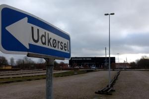 01. februar 2018: En 32-årig mand, der var flygtet fra et fængsel i Jylland, blev natten til torsdag fanget i et villakvarter i Odense.  Foto: Ole Holbech