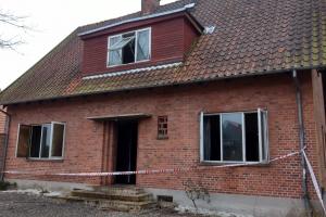 23. marts 2018: Brand i tomt hus i Ringe. Foto: Ole Holbech