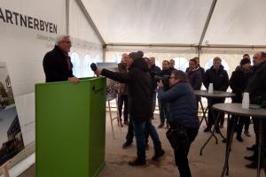 26. februar 2018: Første spadestik til Gartnerbyen i Odense. Foto: Ole Holbech