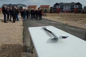 21. marts 2018: Spadestik til nye boligbyggeri på Østerbro i Odense. Foto: Ole Holbech