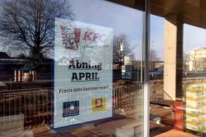 01. april 2018: KFC åbner i Odense. Foto: Ole Holbech