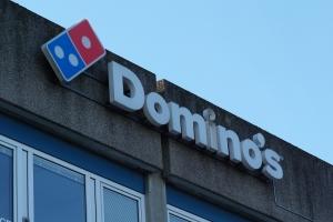 01. april 2018: Dominos Pizza åbner i Tarup Center. Foto: Ole Holbech