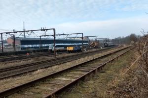21. februar 2018: Et tog blev afsporet i Odense tirsdag aften, og det giver onsdag morgen timelange forsinkelser og aflysninger på Fyn. Foto: Ole Holbech