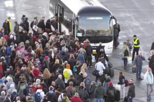 Togbusser ved Odense Banegård