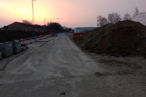 13. april 2018: Letbanearbejde ved Hestehaven. Foto: Ole Holbech