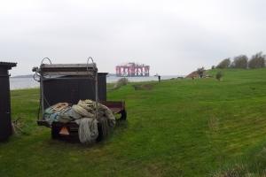 Boreplatform på ved til Lindø