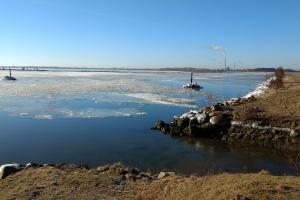 19. marts 2018 Odense Fjord og kanal. Foto: Ole Holbech