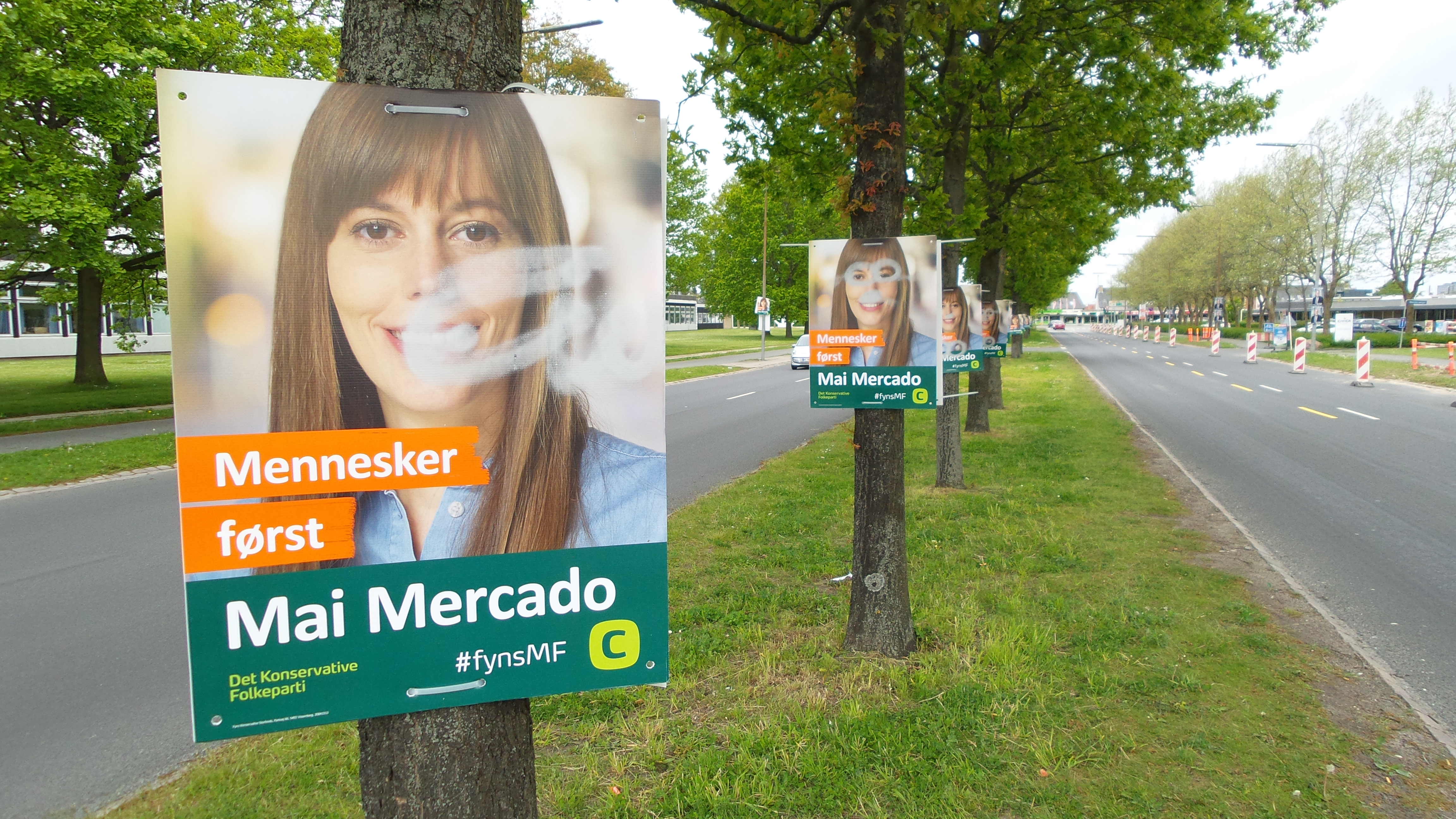 Hærværkt og trusler i valgkampen_