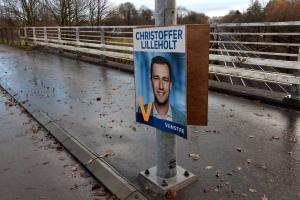Valgplakater er ikke fjernet efter valget