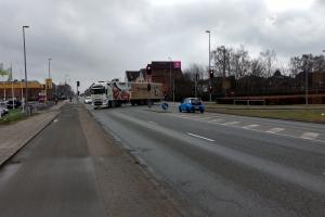 22. februar 2018: Lysreklamer ved veje. Foto: Ole Holbech