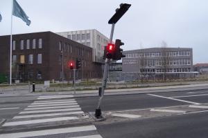 17. april 2018: Trafikuheld i Ejlskovsgade i Odense. Foto: Ole Holbech