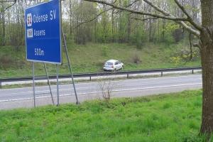 30. april 2018: Spøgelsesbilist kolliderer med varebil. Foto: Ole Holbech