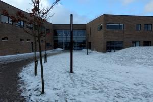 1. marts 2018: Snevejr på Langeland. Foto: Ole Holbech