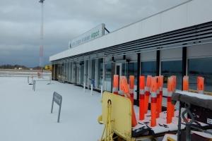 27. februar 2018: Snevejr i Odense Luifthavn. Foto: Ole Holbech